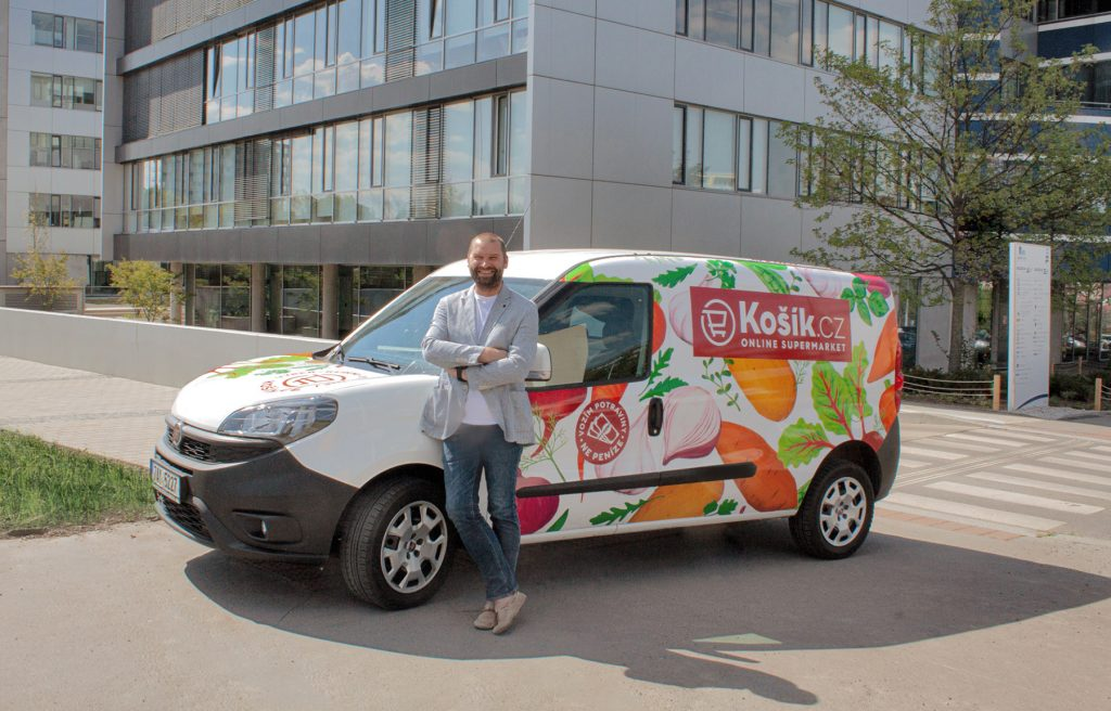 Košík.cz has begun to deliver throughout the Czech Republic, with non-perishable groceries to be delivered by In Time